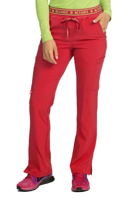 Red Activate Yoga 2 Cargo Pocket Scrub Pant  - Size M - 1 Left