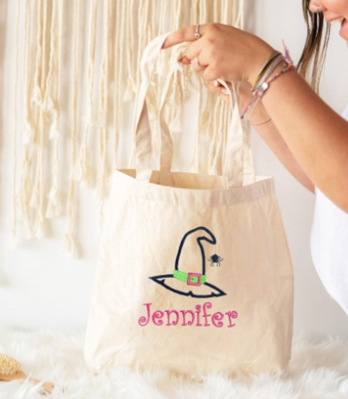 Witch Name Canvas Tote