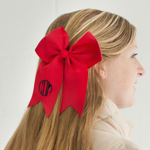 Girls Red Hair Bow