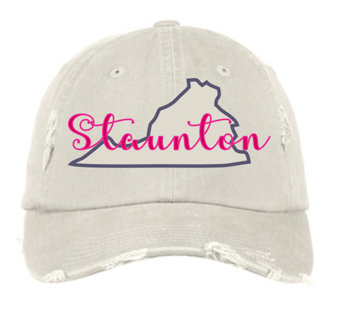 Staunton & VA State Outline Ball Cap