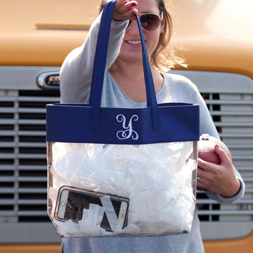 Navy Clear Tote Bag