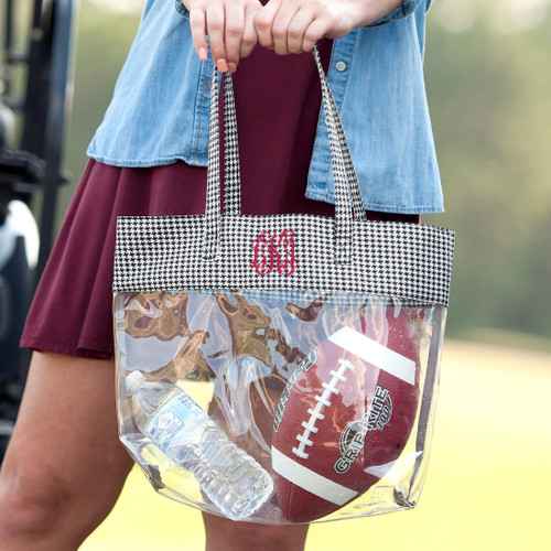 Houndstooth Clear Tote Bag