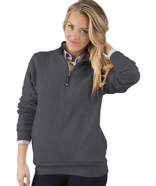 ADULT CROSSWIND QUARTER ZIP SWEATSHIRT~DARK CHARCOAL