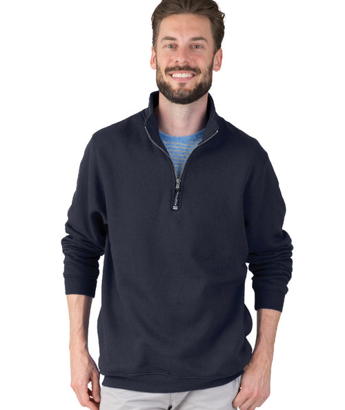 ADULT CROSSWIND QUARTER ZIP SWEATSHIRT~NAVY