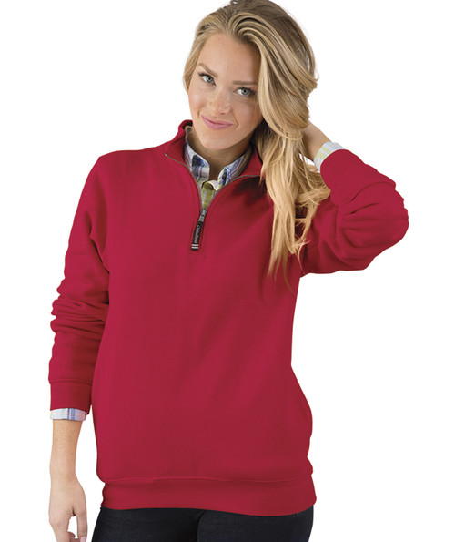 ADULT CROSSWIND QUARTER ZIP SWEATSHIRT~RED