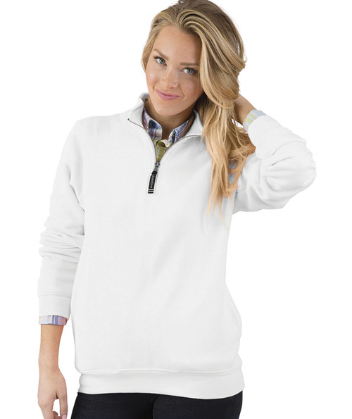 ADULT CROSSWIND QUARTER ZIP SWEATSHIRT~WHITE