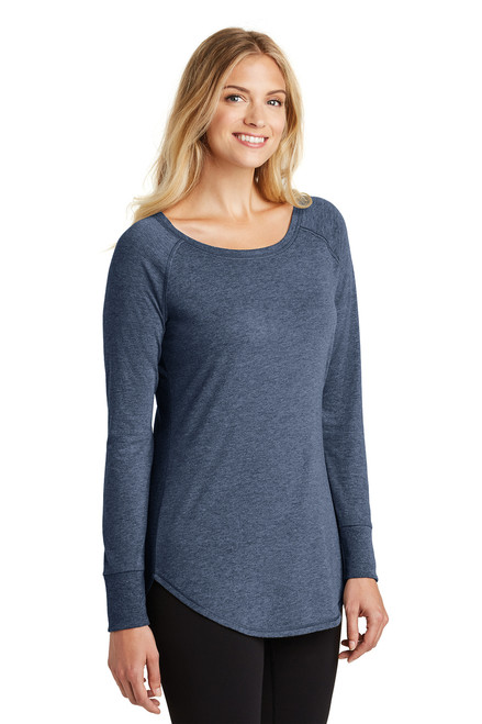 Women's Perfect Tri ® Long Sleeve Tunic Tee~Navy