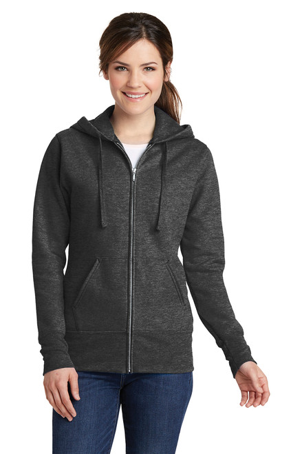 Dark Heather Fleece Full-Zip Hooded Sweatshirt