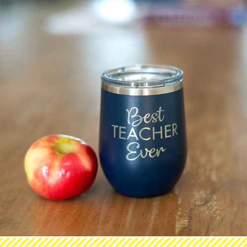 Best Teacher 12 Oz Stainless Steel Tumbler w/Lid