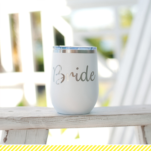 Bride 12 Oz Stainless Steel Tumbler w/Lid