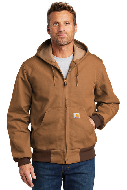 Thermal-Lined Duck Active Jac ~ Carhartt Brown