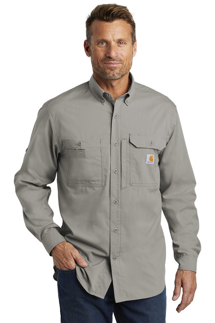 Carhartt Force ® Ridgefield Solid Long Sleeve Shirt ~ Asphalt