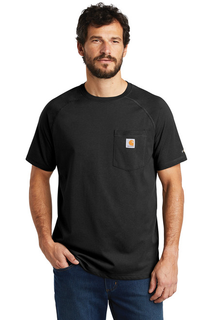 Carhartt Force ® Cotton Delmont Short Sleeve T-Shirt ~ Black