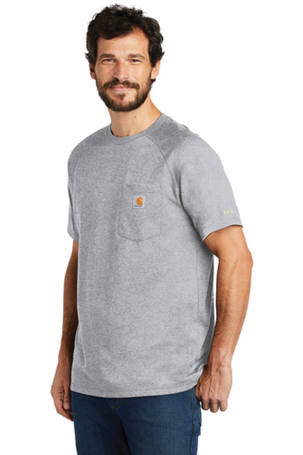 Carhartt Force ® Cotton Delmont Short Sleeve T-Shirt ~ Heather Grey