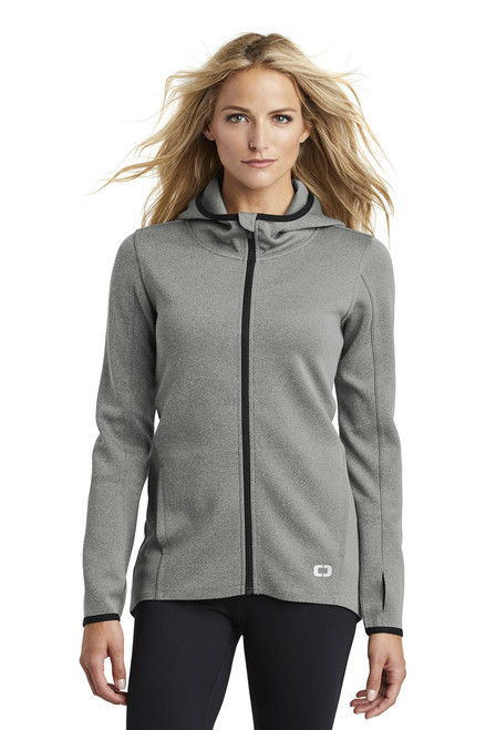 Ladies Stealth Full-Zip Jacket ~ Heather Grey