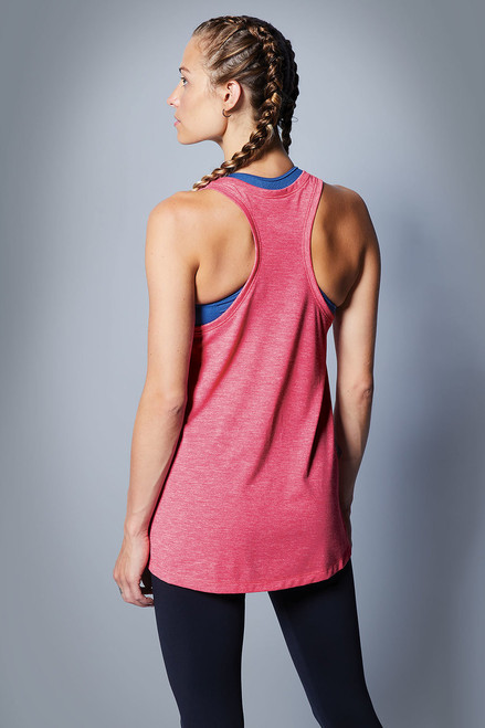 Ladies PosiCharge ® Tri-Blend Wicking Tank ~ Pink Raspberry Heather