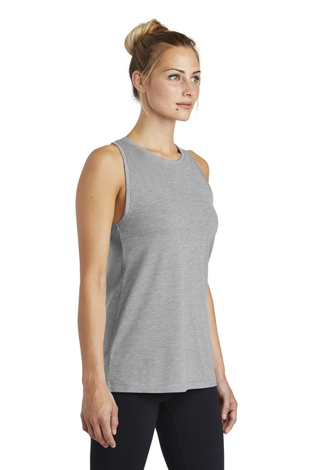 Ladies PosiCharge ® Tri-Blend Wicking Tank ~ Light Grey Heather
