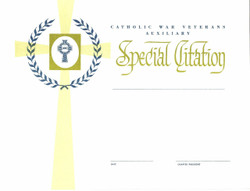Auxiliary Special Award Citation  (Chapter President Signature