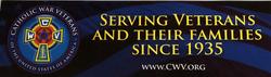 CWV Recruitment Bumper Sticker  (Magnetized)