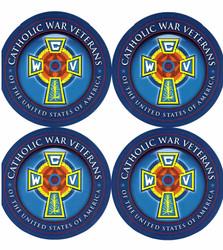 Catholic War Veterans Emblem Decal (Sheet of 4)