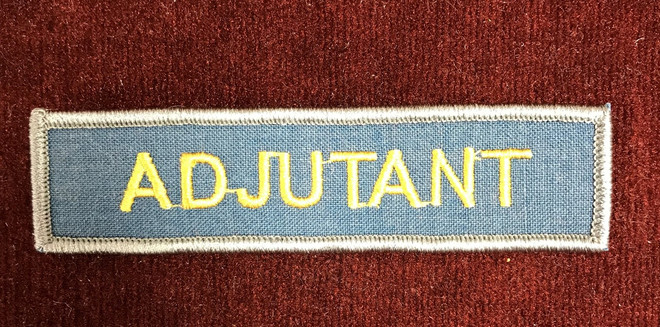Adjutant Patch