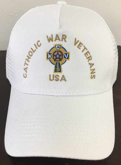 Baseball Cap  (White with Gold Lettering)