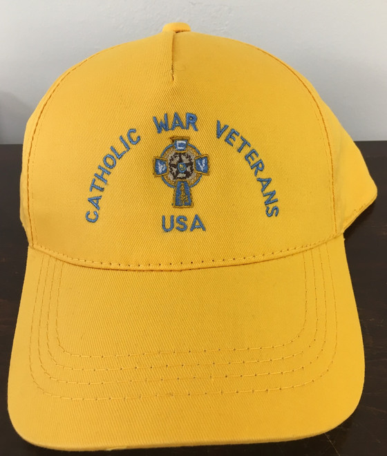 Baseball Cap  (Gold with Blue Lettering)