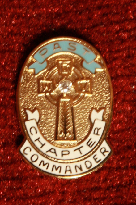 Past Chapter Commander Pin with Diamond