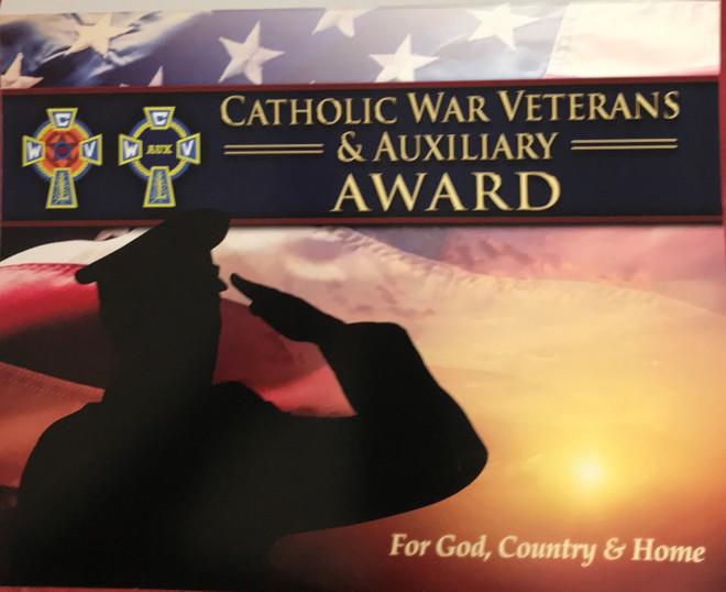 CWV & AUX Award Certificate Folder