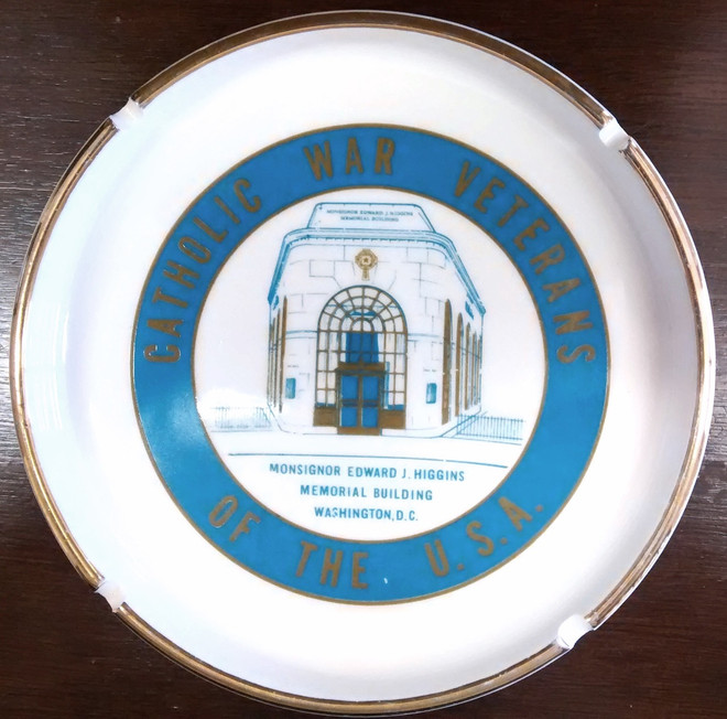 Catholic War Veterans Ashtray