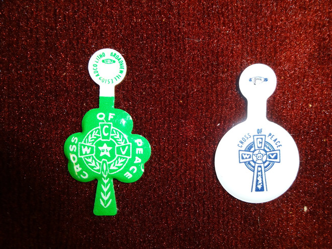 Cross of Peace Metal Buttons  (Minimum 500 pieces)
