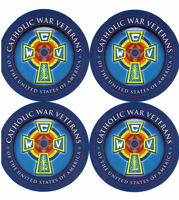 Catholic War Veterans Emblem Decal (Sheet of 4)