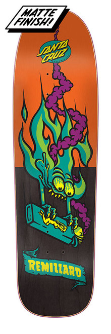 "The Remilard Lit AF is a 7 ply Canadian maple 8.8"" and highly durable skateboard deck made by Santa Cruz."