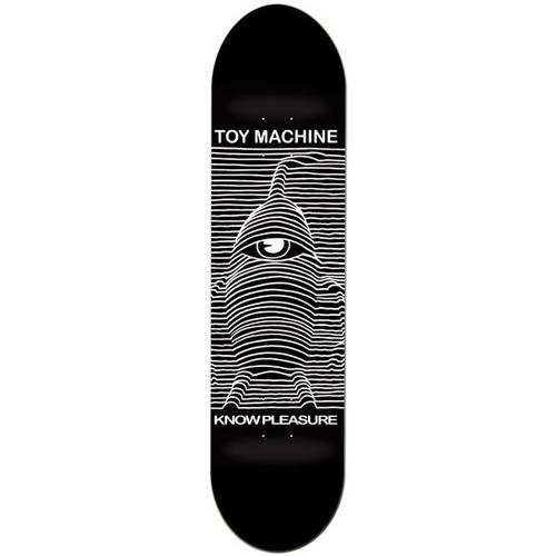 Possibly one of the most riffed on album covers ever, Toy Machine continues to tortures their dear cyclops by throwing him through the 3D processor. Toy Machine's lost control! Width: 8.0 Shape: Popsicle Deck Construction: Traditional Maple Deck Series: Toy Division