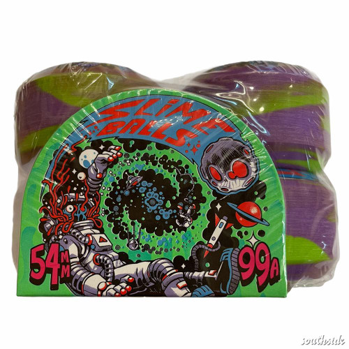 54 MM , 99 A  purple , black slime ball wheels
