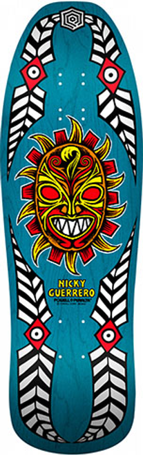 """This is a reissue of the Classic Powell Peralta Nicky Guerrero """"MASK"""" Pro model. Its 10.279"""" Wide x 31.75"""" Long and has that classic old school shape."""