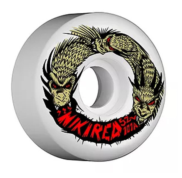 This an Official Niki Red  King Ghidorah Team Model Wheel in size 52MM 101A Street Wheel. This wheel is perfect for the streets and can really eat up asphault and the streets in general. Niki Red manufactures their wheel at world famous Creative Urethane on the east coast. Creative means Quality!!!!!