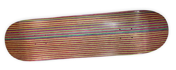 Rainbow Pattern Blank Skateboard Deck