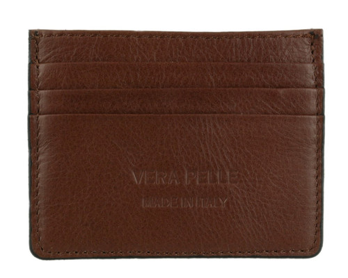 Plain Genuine Leather Card Holder