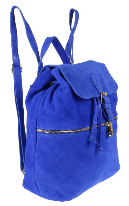 Italian Suede Leather Backpack