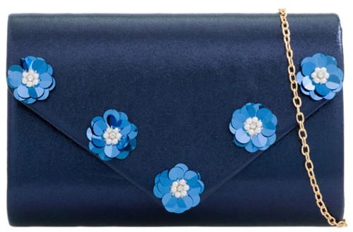 Glitter Flowers Clutch Bag