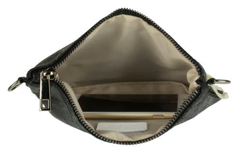 Fringe Metallic Clutch Bag