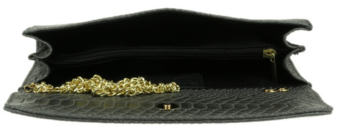 Italian Snake Suede Clutch Bag