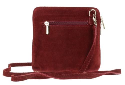 Suede Cross Body Shoulder Bag