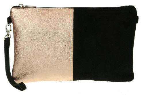 Two Tone Metallic Clutch Bag