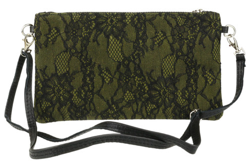 Italian Suede Lace Clutch Bag