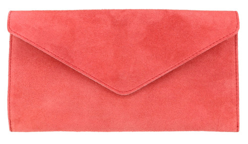 Womens Suede Leather Clutch