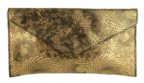 Snake Holographic Envelope Clutch Bag
