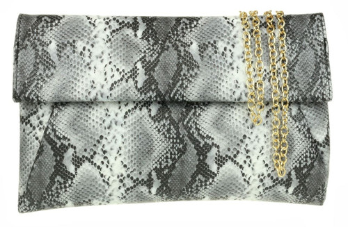 Envelope Snake Skin Clutch Bag