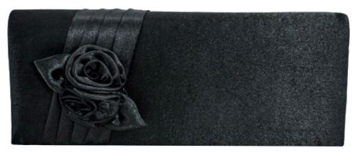 Flower Satin Clutch Bag